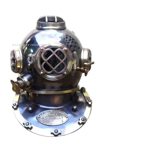 Vintage Look Antique Nautical Divers Helmet Mark V Collectible U.S. Navy Diving Helmet