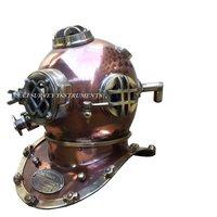 Copper and Brass Antique Nautical Scuba Diving Helmet Mark V US Navy Antique Divers Helmet