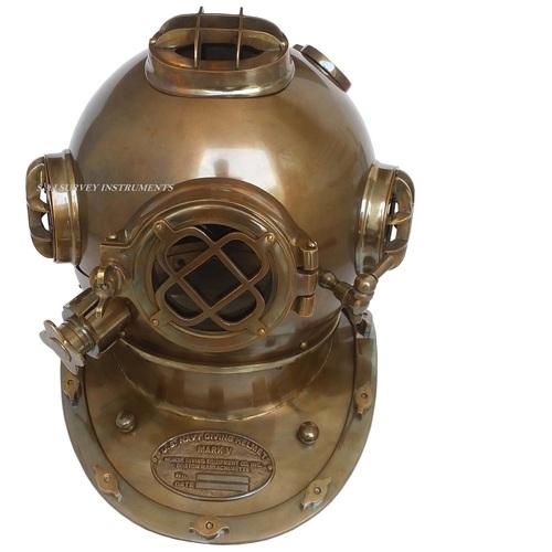 Vintage Look Antique Diving Helmet Mark V Collectible U.S. Naval Divers Helmet Art & Collectible Nautical