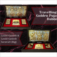 Travelling Golden Puja Dabbi