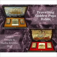 Golden Temple And Radha Krishna (Big) Puja Dabbi