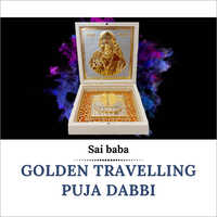 Golden Travelling Puja Dabbi