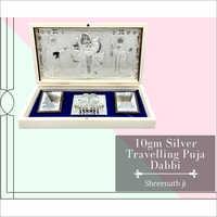 Shreenth Ji 10gm Silver Travelling Puja Dabbi