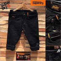 Mens Superdry Black Denim Jeans