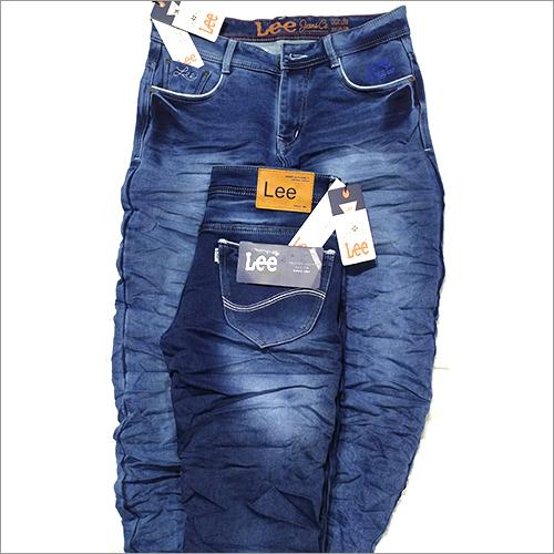 Mens Denim Blue Lee Branded Jeans