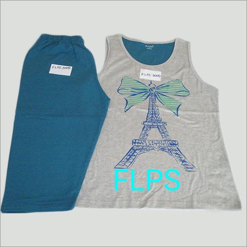 Ladies Printed Pyjama Set