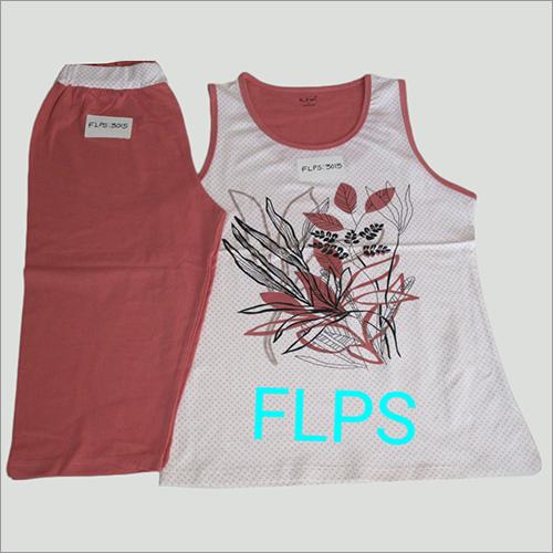 Ladies Sleeveless Pyjama Set