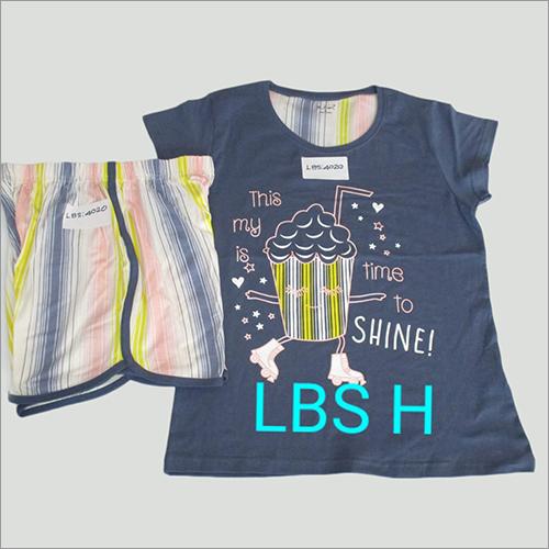 Ladies Half Sleeveless  Pyjama Set