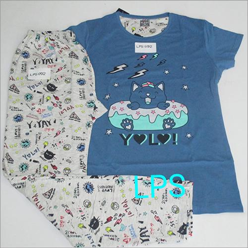 Ladies Fancy Printed Pyjama Set