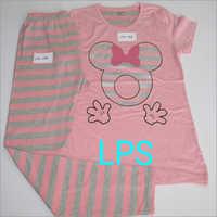 Ladies Cotton Printed Pyjama Set