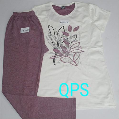 Ladies Designer Printed Pyjama Set