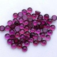 4mm Rhodolite Garnet Round Cabochon Loose Gemstones