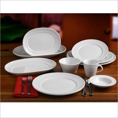 Ceramic White Hotelware Crockery