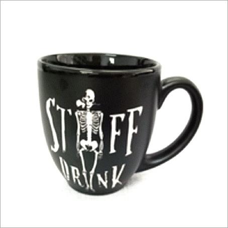 Black Ceramic Large Mug