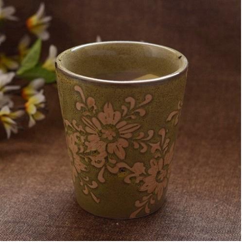 Green Ceramic Bucket Planter