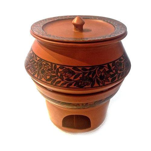 Copperish Matte Finished Ceramic Handi