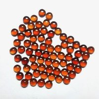 5mm Hessonite Garnet Round Cabochon Loose Gemstones