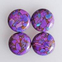 11mm purple Copper Turquoise Round Cabochon Loose Gemstones