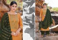 Rangoon Gazal Silk Weaving Buti And Siquence Work Readymade Suit Catalog