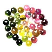 3.5mm Multi Tourmaline Rose Cut Round Loose Gemstones