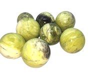 Green Serphentine Spheres Gemstones