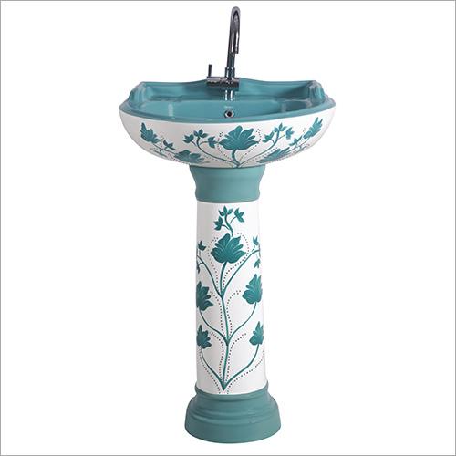 Designer Print Pedestal Wash Basin