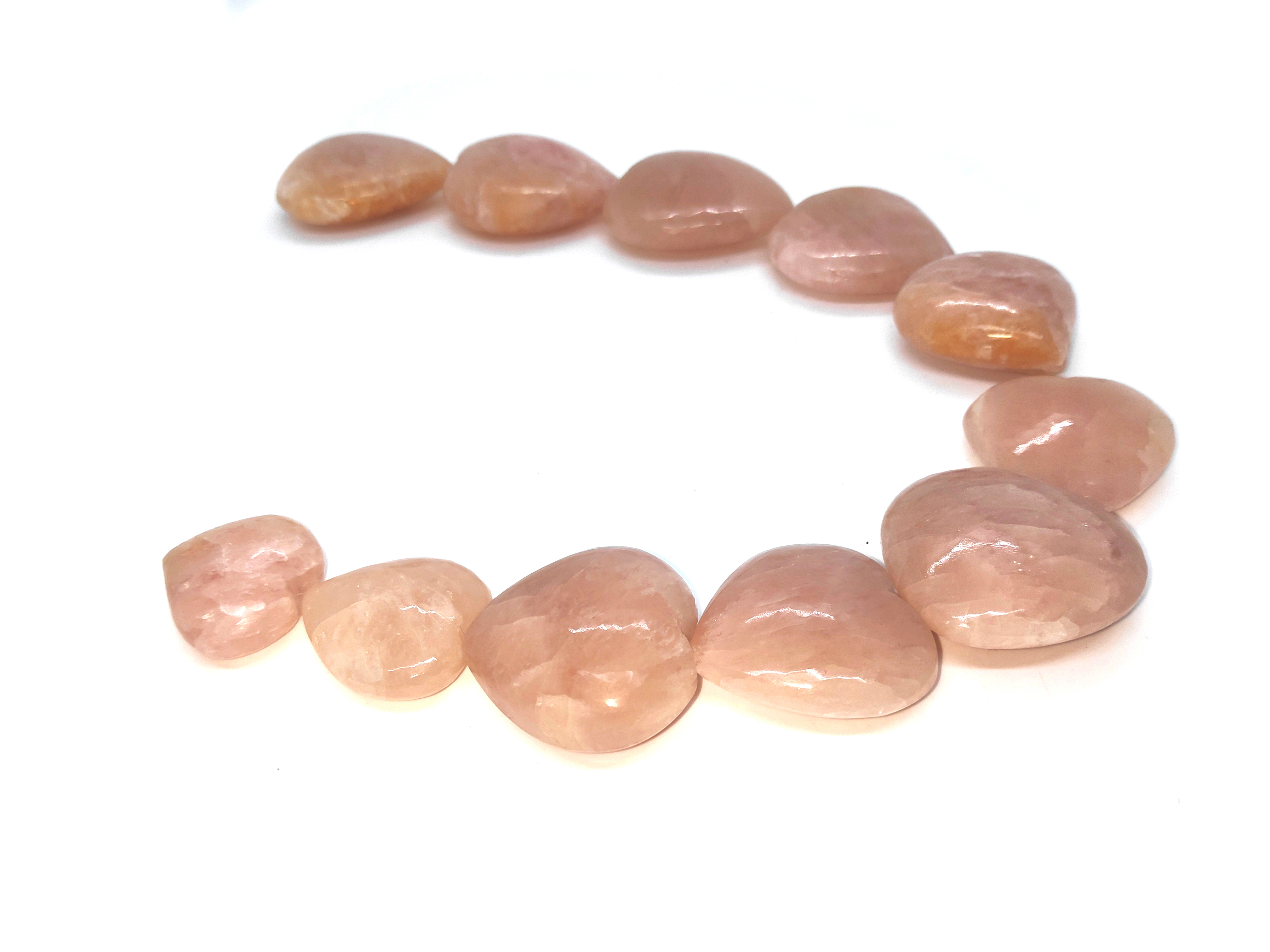 morgonite hearts Gemstones