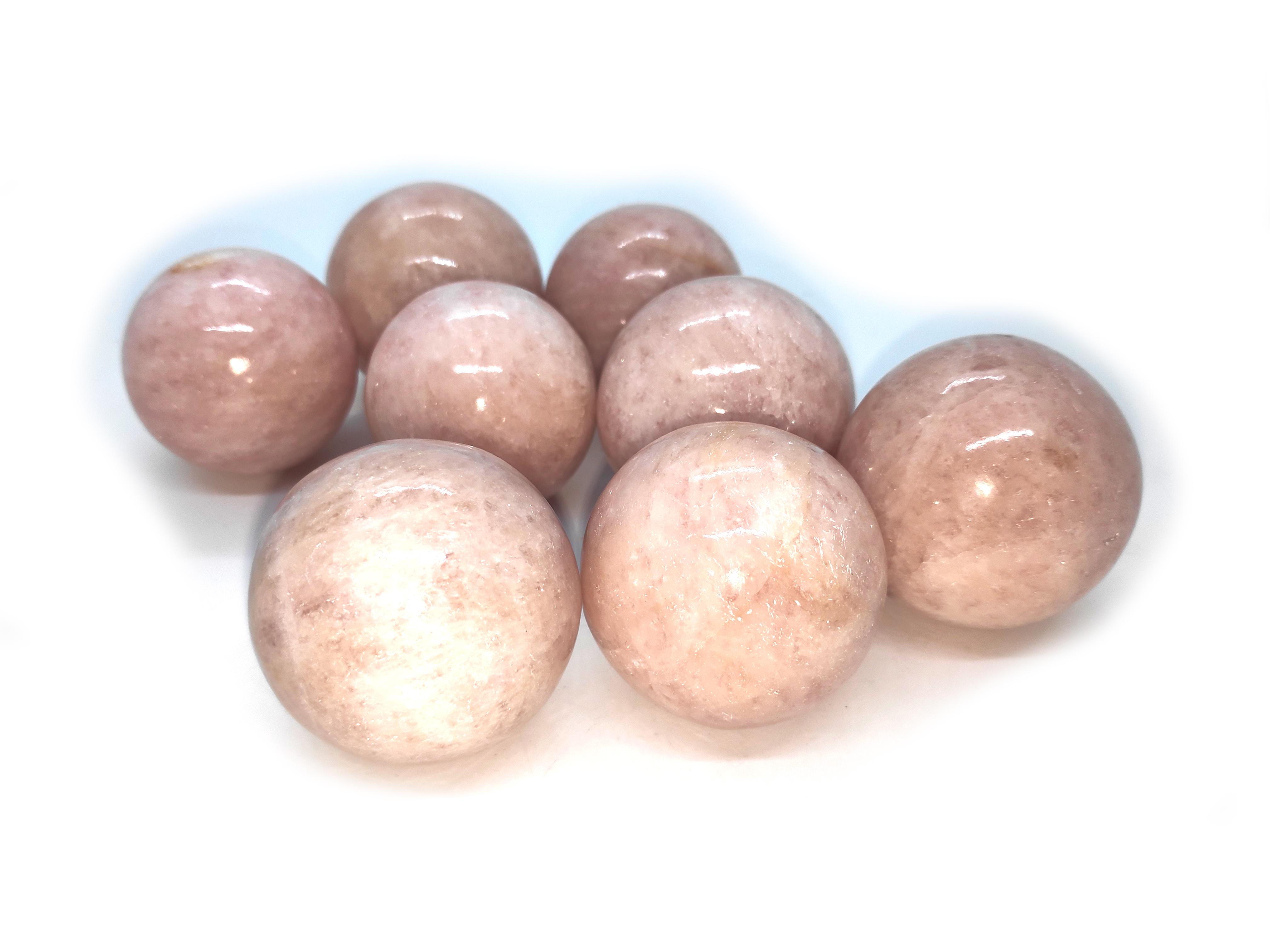 morgonite spheres Gemstones