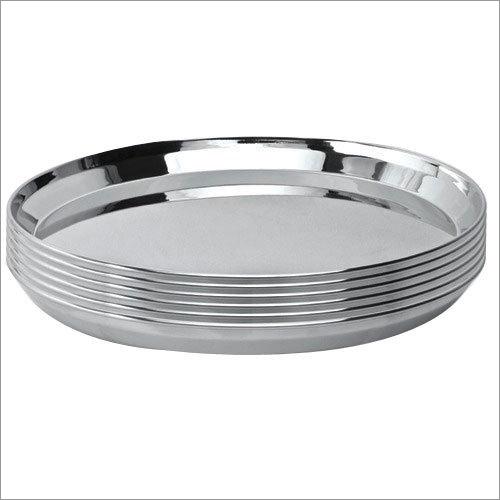 Plain Stainless Steel Dinner Plate