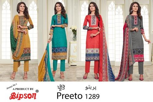 Preeto 1289 Glace Cotton Print Dress Materials