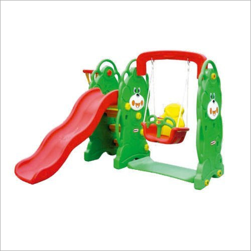 Bear Slide With Plastic Swing