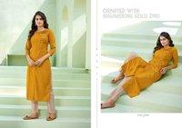 Kalaroop Octavia Vol 7 Silk With Hand Work Kurti Catalog