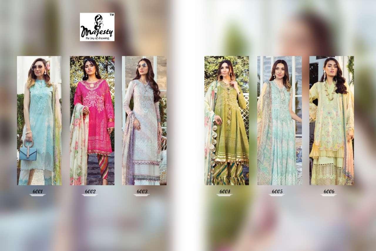 Majesty Maria M Print Vol 6 Jam Silk Print With Patch Work Pakistani Suit Catalog
