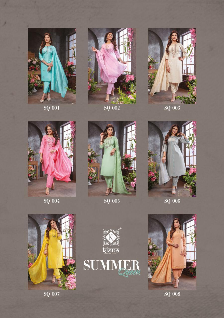 Kiana Summer Queen Fancy Cotton Readymade Suit Catalog