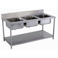 Labcare Export Three Sink Dish Wash Unit