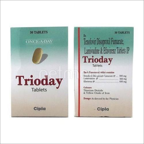 TRIODAY (Tenofovir Disoproxil Fumarate, Lamivudine And Efavirenz Tablets IP