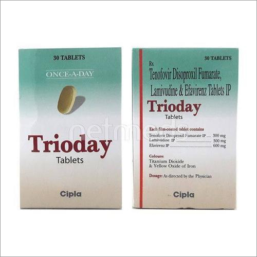 Tenofovir Disoproxil Fumarate, Lamivudine And Efavirenz Tablets IP