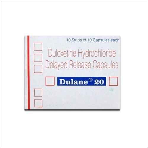 DULANE 20 MG CAP(Duloxetine Hydrochloride Delayed Release Capsules