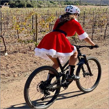 Girls Riding Bicycle