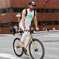 Men Ride Bicycle