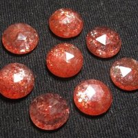 7mm Sunstone Rose Cut Round Loose Gemstones