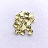 4mm Lemon Quartz Rose Cut Round Loose Gemstones