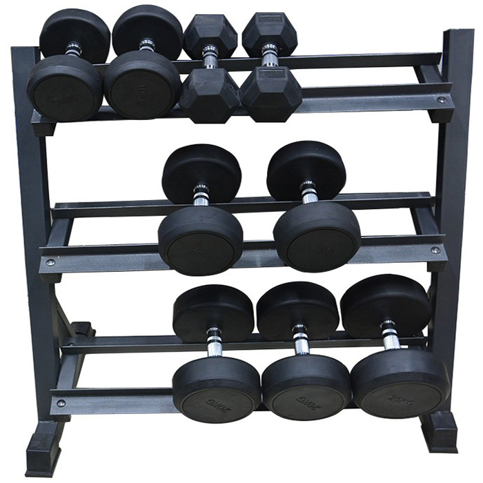Hex Rubber Dumbbell With Different Weight