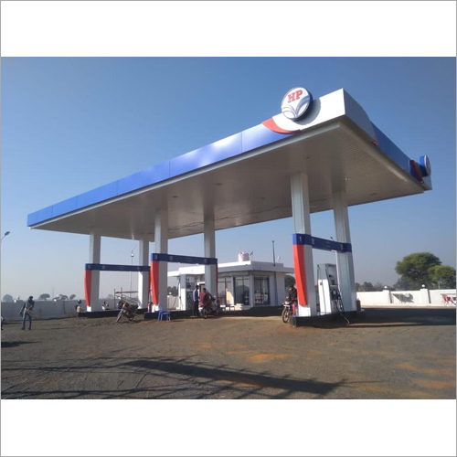 HP Petrol Pump Canpoy