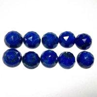 12mm Lapis Lazuli Rose Cut Round Loose Gemstones