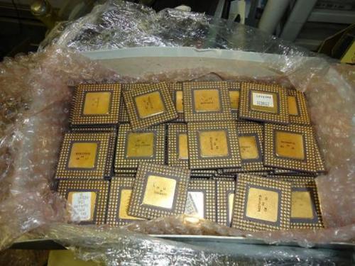 CPU Ceramic Processor Scrap with Gold Pins