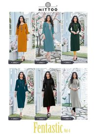 Mittoo Fantastic Vol 4 Designer Fancy Kurti Catalog