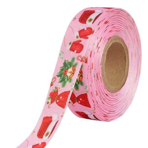 Gift Merry X'Mas Ribbons 25mm/1'' Inch Gross Grain Ribbon