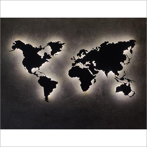 World Map Interior Design Laser Cutting Service
