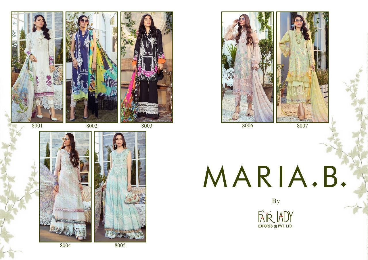 Fair Lady Maria B Pure Jam Satin Digital Printed Pakistani Dress Material Catalog